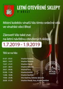 Letní otevřené sklepy – Dolní Dunajovice a Březí 2019
