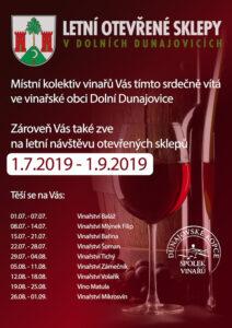 Letní otevřené sklepy – Dolní Dunajovice 2019